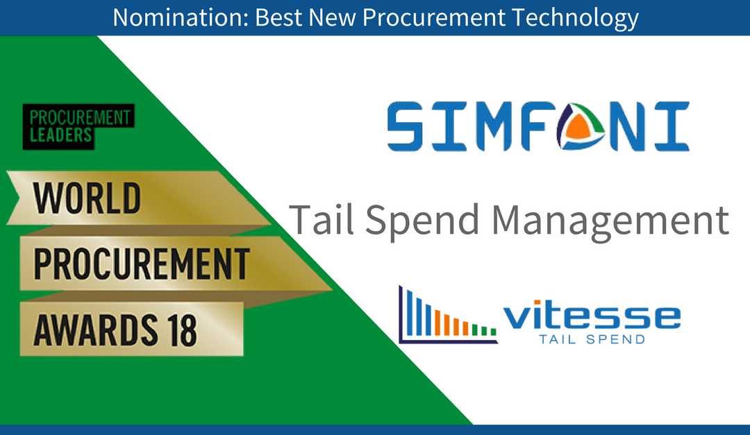 Why has Simfoni been nominated for a Best Procurement Technology Award?