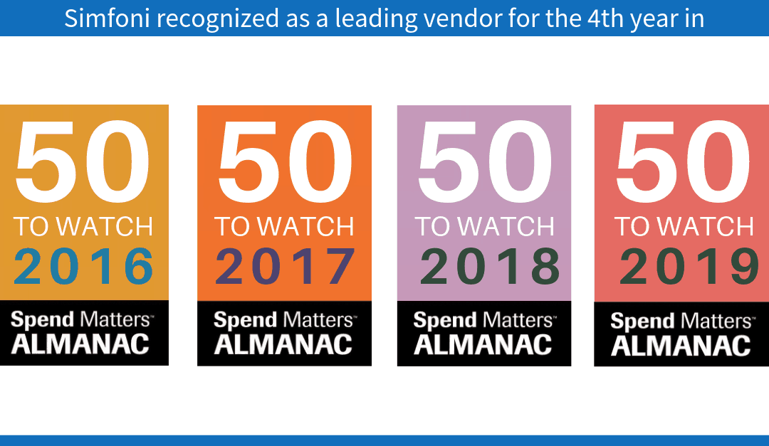 Simfoni recognized as a leading vendor for the 4th year in succession.