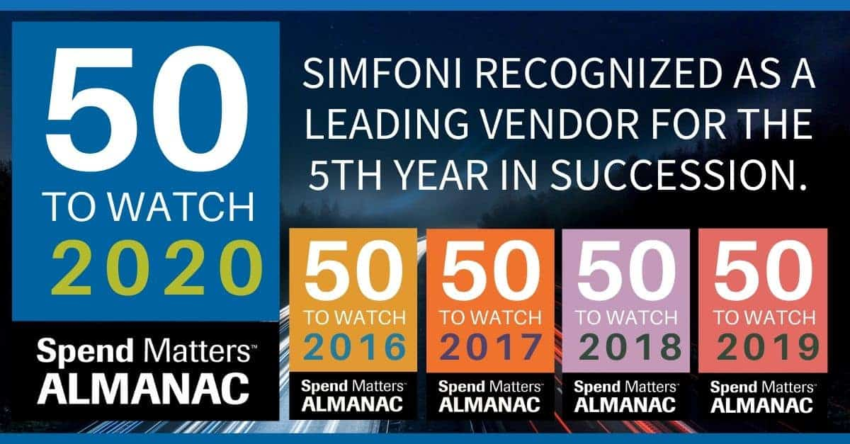 Simfoni recognized as a leading vendor for the 5th year in succession