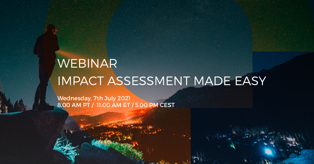 Webinar – Impact Assessment Made Easy: 6 Steps to Getting Your 2021 Footprint on Record